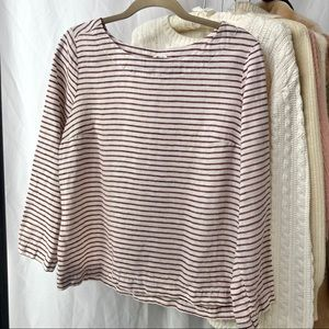 ✸3 for $30✸ ARTISAN NY/ striped linen top